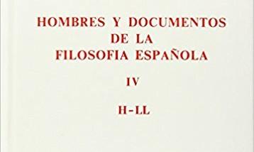 """Diccionario """"Hombres y documentos de la Filosofía Española"""""""