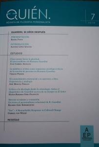 Lanzamiento del nº 7 de Quién. Monográfico sobre Romano Guardini.