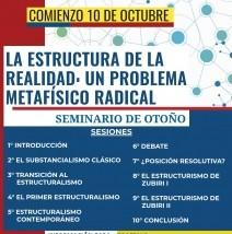 """Seminario """"La estructura de la realidad: un problema metafísico radical"""" (Otoño 2018)"""