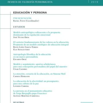 Publicación Nº9 de «QUIÉN. Revista de Antropología Personalista