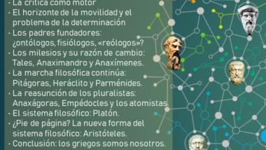 «Seminario de filosofía histórica» por Fundación Xavier Zubir (marzo-mayo)