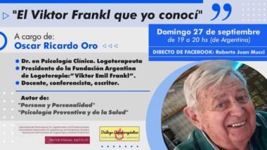 Charla sobre Viktor Frankl, domingo 27 de septiembre (Facebook)