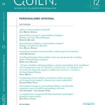 ¡NOVEDAD! Publicación Nº12 de «QUIÉN». Revista de Filosofía Personalista