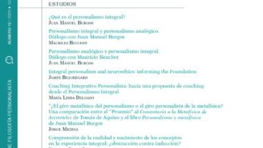 """¡NOVEDAD! Publicación Nº12 de """"QUIÉN"""". Revista de Filosofía Personalista"""